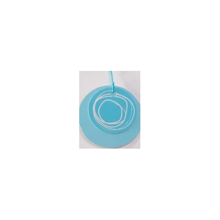 Nominette Ronde turquoise avec dessin