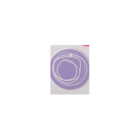 Nominette ronde lilas avec dessin