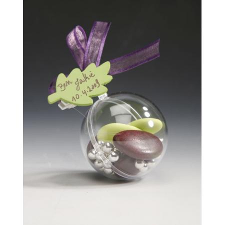 Boule en plastique diamètre 5cm