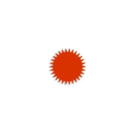 Tulle cristal orange Organza