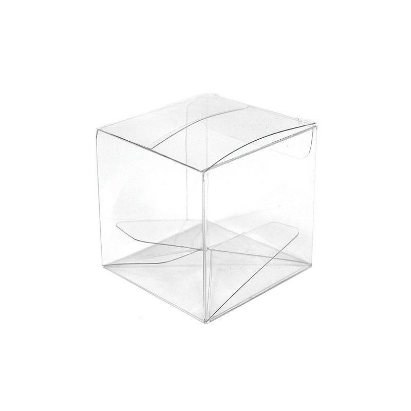 Boîte transparente carrée 4x4x4