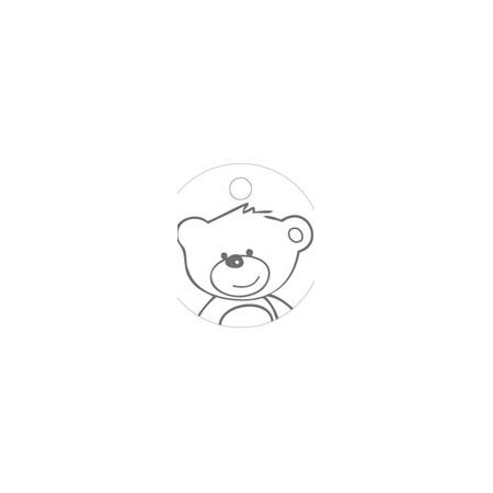 Name card baby bear