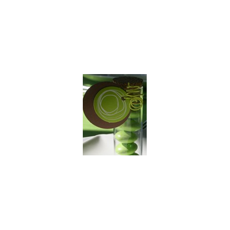 Nominette ronde verte avec dessin