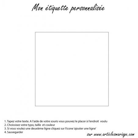 Square sticker transparent