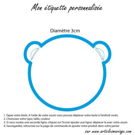 Etiquette ourson transparente
