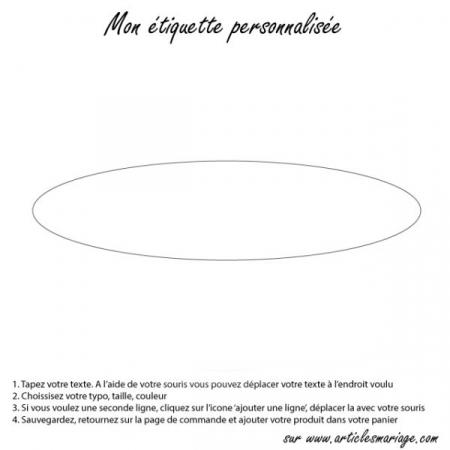 etiquette oval transparente