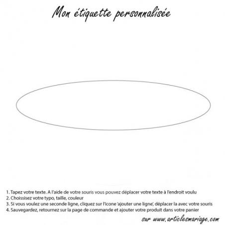 Oval transparent label