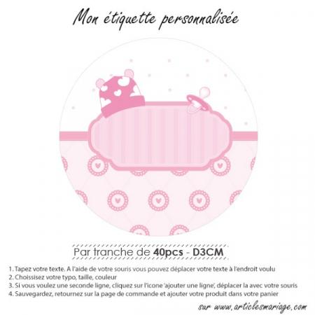 Etiquette ronde naissance