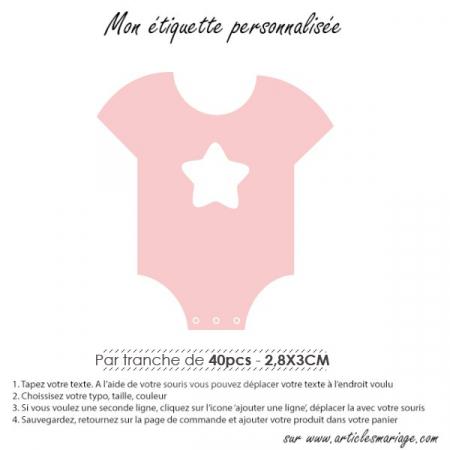 Etiquette vêtement naissance