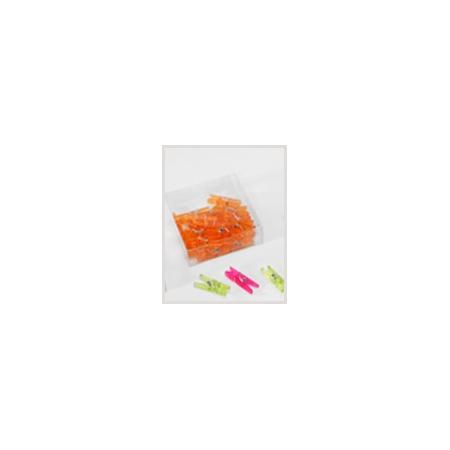 Orange plastic clip