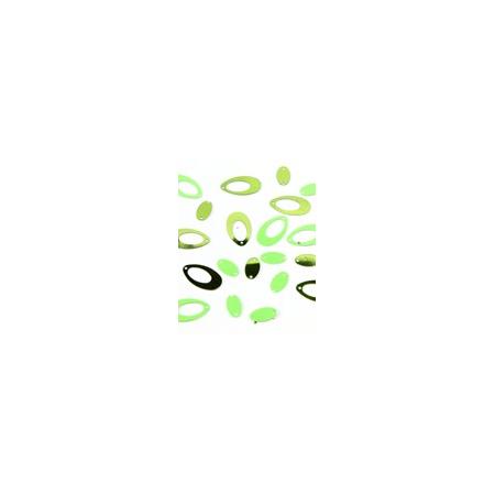 Glitters green oval 15gr