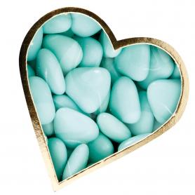 Dragées Coeur Vert d'eau
