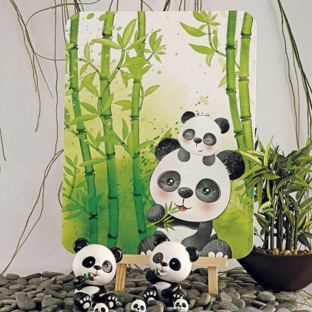 Décoration panda plaque+chevalet