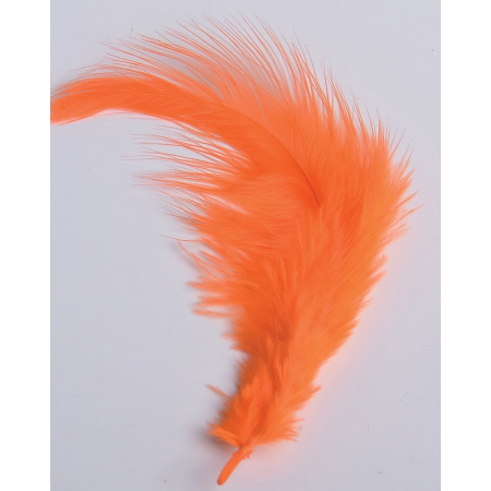 2 gr of small DARK ORANGE feathers