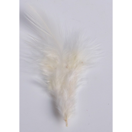 2 gr of small CREAM feathers