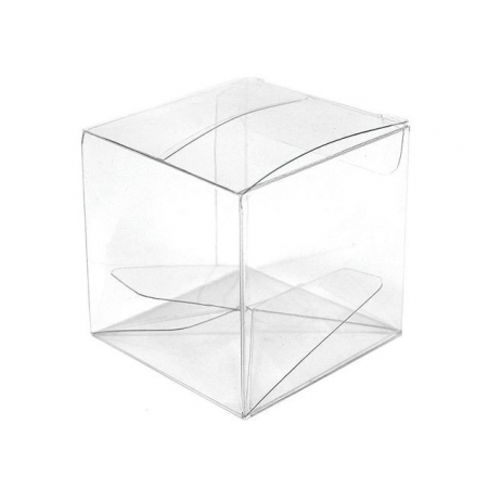 Square transparent box 4x4x4